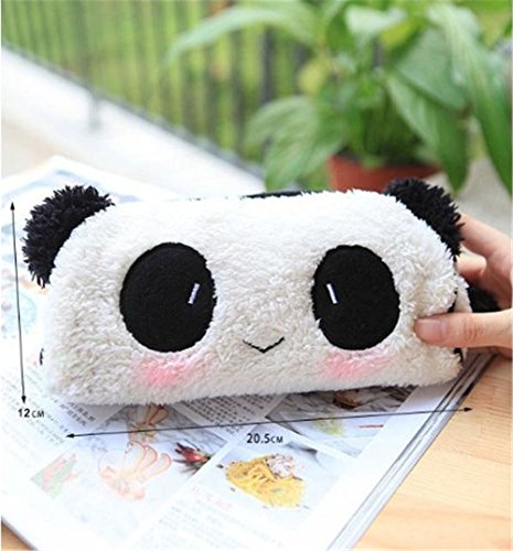 Bella Stereo peluche Panda penna matita caso sacchetto cosmetico bianco e nero