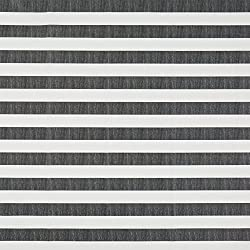 Vinylla rayas negro algodón recubierto de vinilo fácil de limpiar mantel de hule, negro, 140 x 240 cm