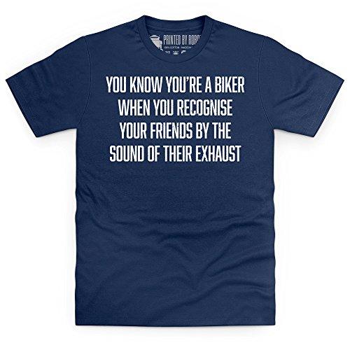 Exhaust Identification T-Shirt, Herren Dunkelblau