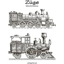 Züge-Malbuch für Erwachsene 1