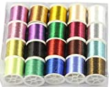 #9: Zari thread for jewellery decoration, pack of 12 colours