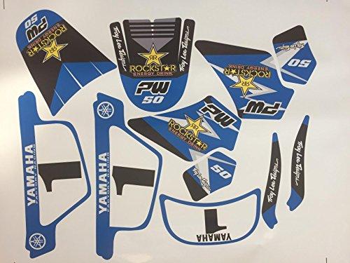 Bleu ADP Adh/ésifs Lot de 2 Stickers Honda pour r/éservoir de Moto ou Autre d/éco