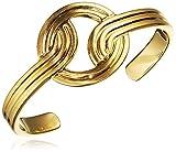 Lara Bohinc Stenmark Cuff Sterling Silver Plated Yellow Gold