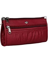 TS TRADER Premium Quality Women's And Girls Wallet Clutch Handbag, Size Medium (Colour-RED)