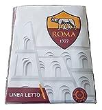 AS Roma Parure Copripiumino 1 Piazza A.S. Roma, 100% Cotone, Giallo E Rosso