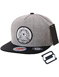 WITHMOONS Gorras de béisbol Gorra de Trucker Sombrero de Snapback Hat Illuminati Patch Hip Hop Baseball
