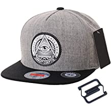 WITHMOONS Gorras de béisbol Gorra de Trucker Sombrero de Snapback Hat  Illuminati Patch Hip Hop Baseball 6ad4cc12bb5