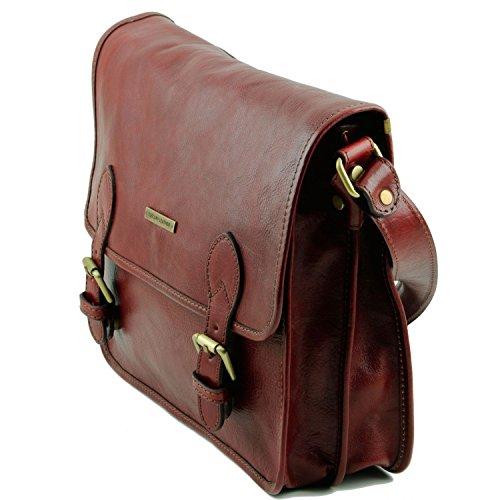 Tuscany Leather - TL Postman - Borsa messenger in pelle Testa di Moro - TL141288/5 Marrone