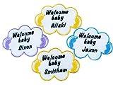 Personalisierte Baby Namen Stickerei Iron On Patches, Filz, Gold, Silver, Custom Colour, Glow In Dark, S