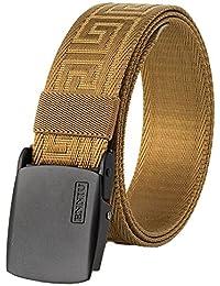 nihiug Cinturón De Cuero Web Para Hombres Cinturón Tejido Transpirable Cinturón De Nylon Para Arrugas Al Aire Libre Antialérgico Cinturón De Secado Rápido Para Exteriores