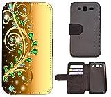 Hülle Galaxy J7 Modell 2016 Hülle Samsung J7 J710 Schutzhülle Handyhülle Flip Cover Case Samsung Galaxy J7 J710 Modell 2016 (1375 Abstract Smaragd Grün Gold Farben)