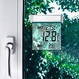 Unbekannt Solar-FensterthermometerTemperaturmesser Wetterstation Innenthermometer Solar-Wetterstation digital Temperaturanzeige