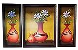 Positive Energy Canvas Hanging Modern Wall Art Decorative Painting Frame Matt / Glossy Finish Home Interior Dcor Big (3pcs Set) D3