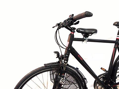 Fahrrad Kindersitz für mt Sattel und Fußstützen vorn - Herrenrad Gr.2 Rahmen Ø 35mm-50mm