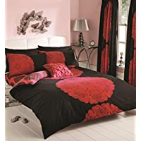 New design Manhattan Duvet sets, Single, Double, King including Pillow cases by 247 Traders (Black Red, Single)