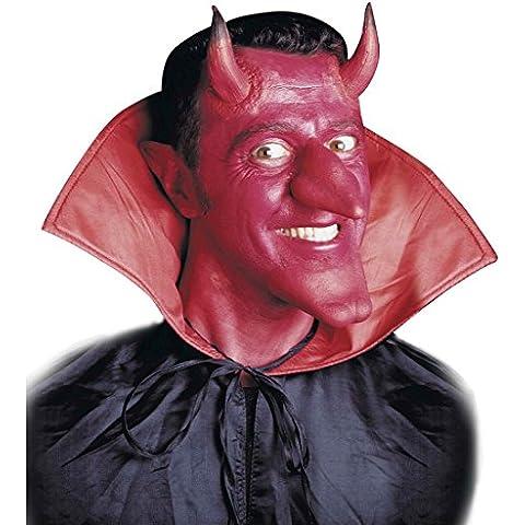 Cuernos de diablo adhesivos máscara demonio látex accesorios