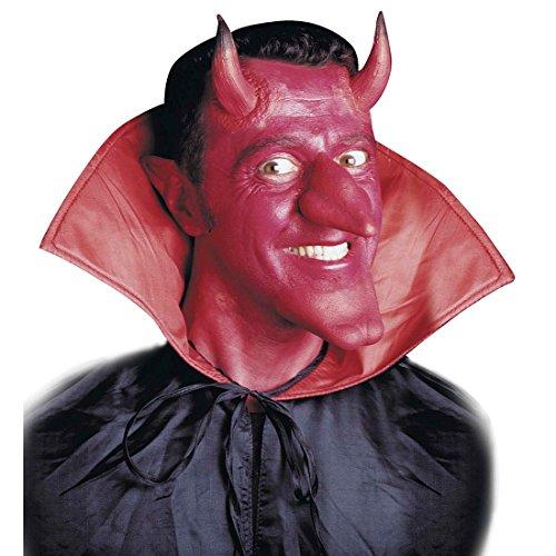 nkleben Satan Hörner Devil Horns Dämon Latexhörner Teufel Kostüm Zubehör Halloween Maske ()
