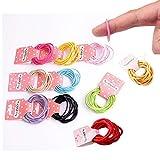 100 Stück Stretchable Haargummi für Kinder Mädchen Frauen Haaraccessoires
