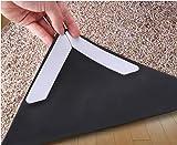 Teppich-Greifer, Aufkleber Teppich-Pad mit Anti-Curling, Multi-Purpose-Nano-Gel-Pads für Office Küche Badezimmer, Stop Rutschen - zweiseitige wiederverwendbare Teppich Anker für sowohl Indoor & Outdoor-Böden, 8 Pcs(weiß)
