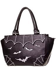 Ropa de prohibido PVC Funda de piel sintética bolso de mano bolsa de murciélagos gótica color blanco