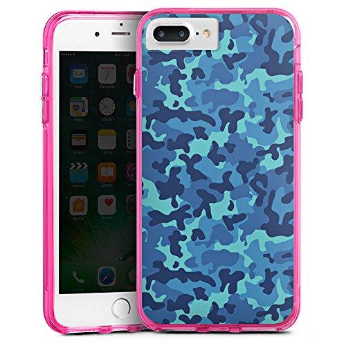 Apple iPhone 6s Bumper Hülle Bumper Case Glitzer Hülle Camouflage Tarnmuster Soldat Bumper Case transparent pink