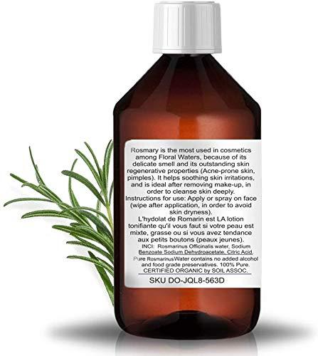 BIO Rosmarinhydrolates Pure Rosmarinwasser Organische Hydrolat Wasserdampf Destillat Gesichtswasser antibakteriell Haar 250 ml