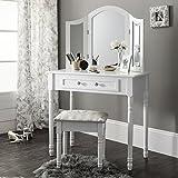 Sienna | Dressing Table, Mirror & Stool Set| Premium Quality | Shabby Chic