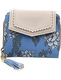 ACTLATI Elegant Fashion Wallet PU Folding Coin Case Women Printed Billfold Multi-purpose Card Holder Purse Handbag