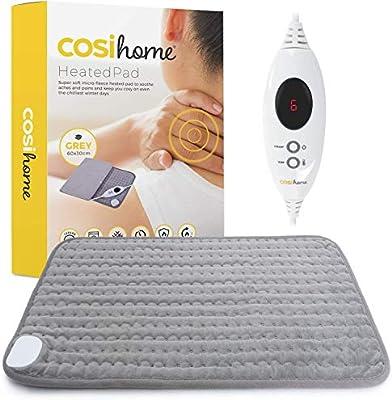 Cosi Home® Almohadilla Eléctrica de Lujo - Extragrande, Lavable a Máquina con Cubierta de Micropolar, Control Remoto Digital y 6 Configuraciones de Calor