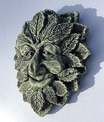 Green Man Smiling Stein Garten Ornament Wandschild Baummann Greenman von Country Garden - Du und dein Garten