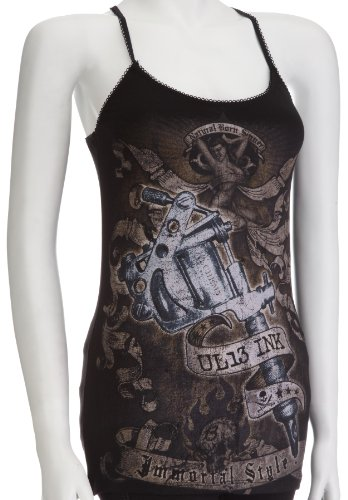Alchemy England - UL13 T-Shirt donna, Nero (Schwarz - Schwarz), Large