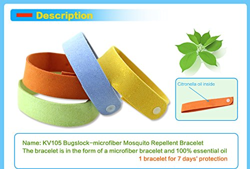 ocona Anti-Moskito Armband, Mückenschutz, 100% natürliches Aroma Duft Öle (12er Set)