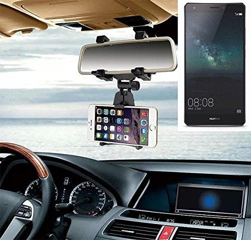 Supporto Smartphone specchietto retrovisore per Huawei Mate S, nero | Specchio Holder staffa auto - K-S-Trade (TM) - Guida All'acquisto Holder