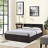 #8: Hometown Alex Queen Size Bed with Storage (Textured Finish, Dark Walnut)