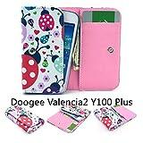 ZeWoo PU Leder Brieftasche für Doogee Valencia2 Y100 Plus