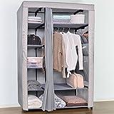 LI JING SHOP - Two colors Cloth Curtains wardrobe wardrobe Pole storage storage box ( Size : 111*50*175CM )