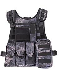 """QIMAOO Gilet Homme Tactique Veste de Protection Pour combat et Camping jeu CS de guerre et chasse à l""""extérieur"""