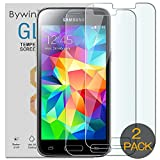 Bywin 「Lot de 2」 Film Verre Trempé pour Samsung Galaxy S5 Mini SM-G800...