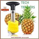 Tech Traders ® New Stainless Steel Fruit Pineapple Slicer Corer Cutter Peeler Kitchen-LIFE TIME WARRANTY