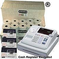 EPOSBITS Brand - 60 rollos + 3 cartuchos de tinta para caja registradora Casio 130CR 130 CR