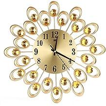 /Pas de Sensation de tic-tac Affichage de la temp/érature et lautlosem Horloge/ /Ø Cander Berlin MNU 4017/Blanche Salle de Bain ventouses en Aluminium avec Quatre pour Fixation /17/cm /