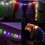 LE 10m 100 LED Festoon Lights, Plug in Multi Colored Globe String Lights, 8 Modes Water Resistant Fairy Lights for Party, Garden, Patio and More Bild 3