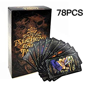 78PCS Tarot Cards Deck Card Game Fantasy Gothic Tarot Cards Alchemy 1977 England Tarot Card for Party and Household…