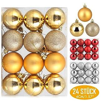 Zogin Adornos de Adornos navideños Bolas de árbol de Navidad inastillables Decoraciones Bola Colgante para decoración de Navidad