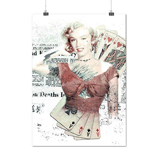 Monroe As Diva Célébrité Casino La vie Matte/Glacé Affiche A3 (42cm x 30cm)   Wellcoda