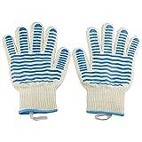 1 Paare/Satz Hochtemperaturbeständige Handschuhe Küche Kochherd Outdoor BBQ Hitzebeständige Grill Hitzebeständige Handschuhe für Küche Handschutz