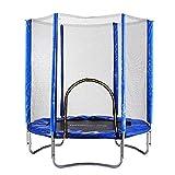 Beautytalk Trampolin Gartentrampolin Kindertrampolin mit Sicherheitsnetz Belastbarkeit Trampolin Indoor Outdoor bis 100 kg(DE Lager) (213cm)