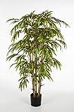 artplants - Künstlicher Bambus-Strauch Hiroshi, 560 Blätter, grün, 90 cm - Bambus künstlich/asiatische Kunstpflanze