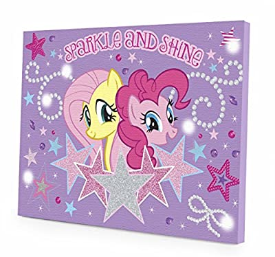 My Little Pony Canvas LED Wall Art - cheap UK light shop.