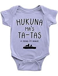 Hukuna Ma's Ta Tas Babygrow Funny Joke Lion Milk Hungry Present King Body Suit